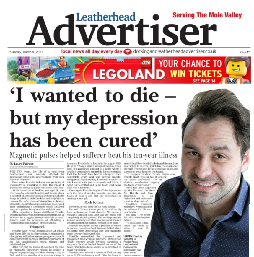 TMS Depression Leatherhead Advertiser