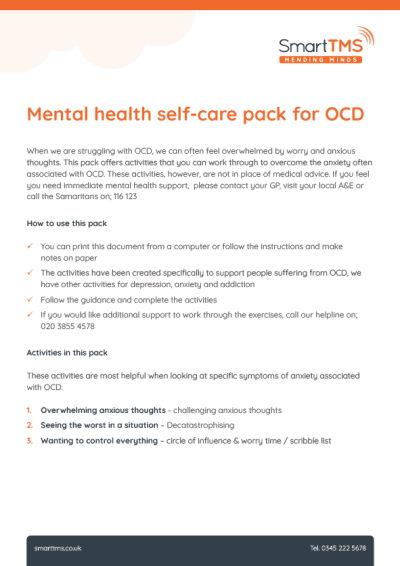 Self Care Pack OCD